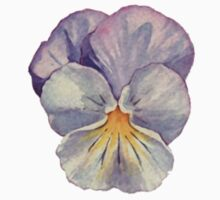 Watercolour Pansy One Piece - Long Sleeve