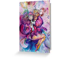 MUSICAL PINK CLOWN Greeting Card