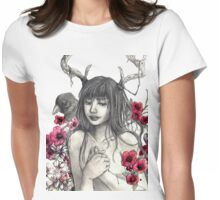 Antler Girl Womens Fitted T-Shirt