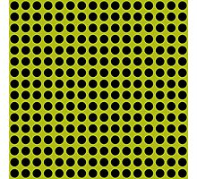 Yellow-Green and Black dots Photographic Print