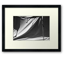 Tent and Shadows 7 BW Framed Print