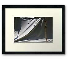Tent and Shadows 7 Framed Print