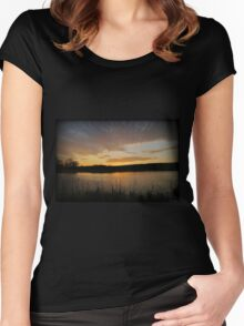 Reflectional Color Women's Fitted Scoop T-Shirt