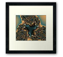 Faded Rose Fractal Framed Print