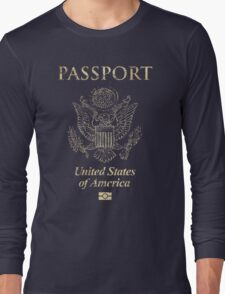 USA Vintage Passport Long Sleeve T-Shirt
