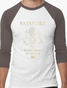 USA Vintage Passport Men's Baseball ¾ T-Shirt