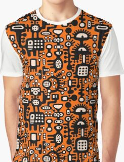 Mechanoid Structure Graphic T-Shirt