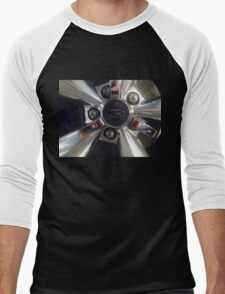 Ford Wheel Mustang Men's Baseball ¾ T-Shirt