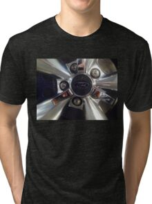 Ford Wheel Mustang Tri-blend T-Shirt