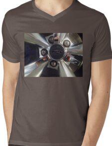 Ford Wheel Mustang Mens V-Neck T-Shirt