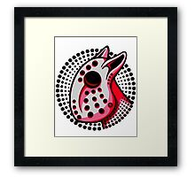 Hockey Mask Bull Terrier Red  Framed Print