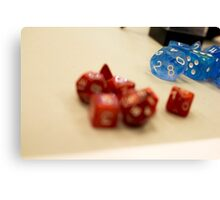 Blurry Dice Canvas Print