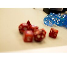 Blurry Dice Photographic Print
