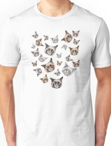 Cats in White Unisex T-Shirt