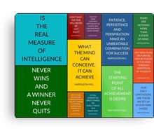 Napoleon Hill Quotes Collage Metal Print