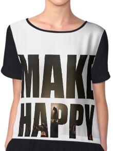 Bo Burnham: Make Happy Chiffon Top