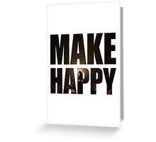 Bo Burnham: Make Happy Greeting Card