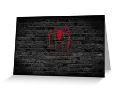 Spider-Man  Red Graffiti   Greeting Card