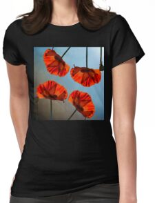 Poppy design Womens Fitted T-Shirt