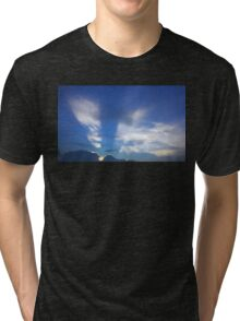 Sunset light in sky Tri-blend T-Shirt
