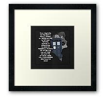 When the Doctor was Me, Doctor Who Framed Print