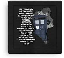 When the Doctor was Me, Doctor Who Canvas Print