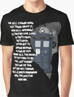 When the Doctor was Me, Doctor Who Graphic T-Shirt