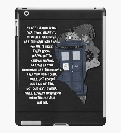 When the Doctor was Me, Doctor Who iPad Case/Skin