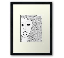 Dots and Waves Framed Print