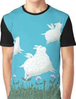 Flying Sheep Meadow Larks Graphic T-Shirt