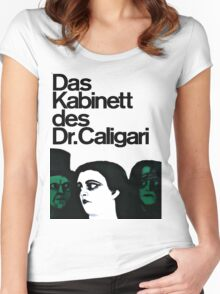 Caligari Poster  Women's Fitted Scoop T-Shirt