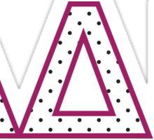 ADPI Polka Dot Letters Sticker