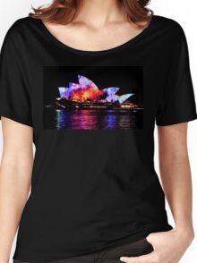 Vivid 2016 Sydney Opera House 1 Black Edition Women's Relaxed Fit T-Shirt