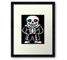 Sans (3D Cellophane) Framed Print