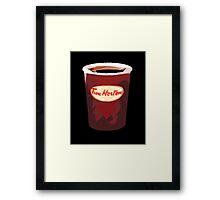 Tim Horton's Cup Vector Framed Print