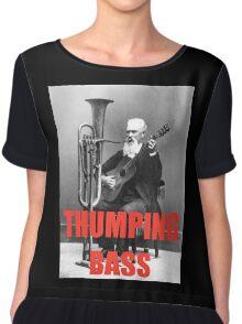 THUMPING BASS - Origins of House Music Chiffon Top