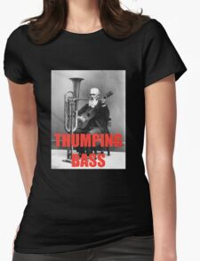THUMPING BASS - Origins of House Music Womens Fitted T-Shirt