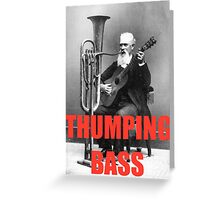 THUMPING BASS - Origins of House Music Greeting Card