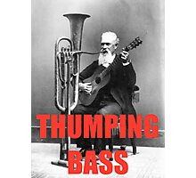 THUMPING BASS - Origins of House Music Photographic Print