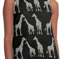 Giraffes Contrast Tank