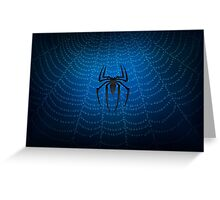 Spider Man Blue Web Greeting Card