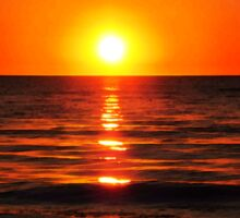 Bright Skies - Sunset Art Sticker