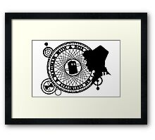 Eleventh Doctor Silhouette Framed Print