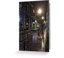 Wet Street Scene Greeting Card