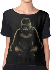 Ape Meditating Chiffon Top
