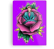 La Dama rose Metal Print