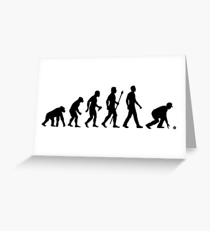 Funny Lawn Bowls Evolution Of Man Greeting Card
