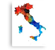 Italy - Italian Map By Sharon Cummings Canvas Print
