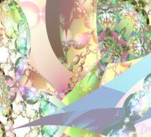 Wings of Angels - Celeste & Amethyst Crystals Sticker