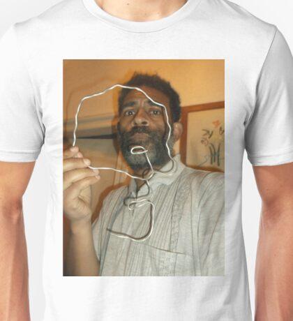 Male Head 1 -(270516)- Wire Sculpture Unisex T-Shirt